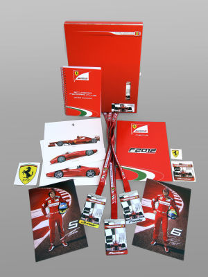 Welcome Kit scuderia ferrari club Andalucia